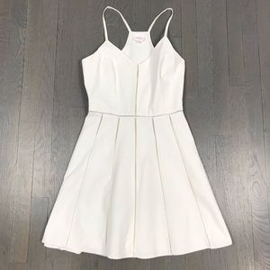 Parker Racerback Sheer Skater A Line White Dress